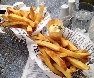 French Fries and don't worry be happy image