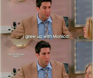 monica, ross, and tv show image