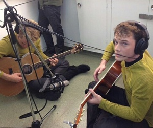 Anton Yelchin, chris pine, and star trek image