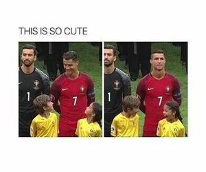 cute, cristiano ronaldo, and funny image