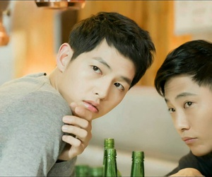song joong ki, jin goo, and descendants of sun image