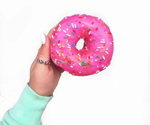 donut, food, and nails image