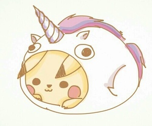 pikachu, unicorn, and pokemon image