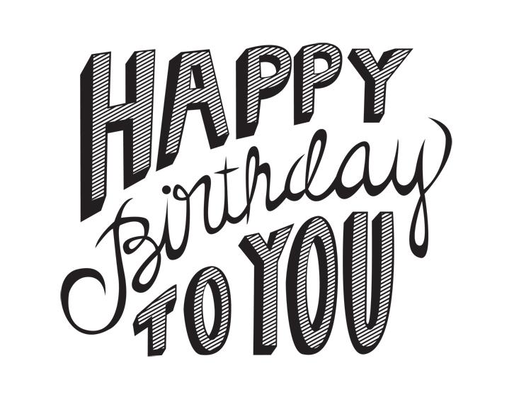 happy birthday, illustration, and typography image