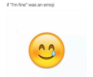 lonliness, pain, and emoji image