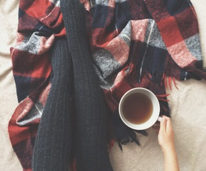 autumn, cozy, and tea image