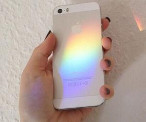 iphone, rainbow, and tumblr image