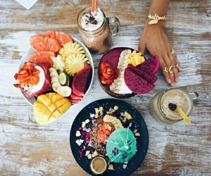 drink, fruit, and breakfast image