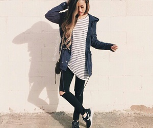 style, girl, and fashion image