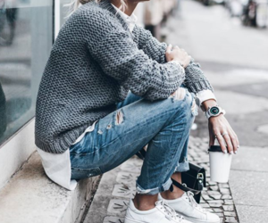 jacket, style, and watch image