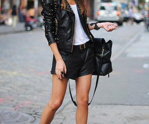 leather, style, and converse image