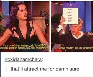 funny, katy perry, and ellen image