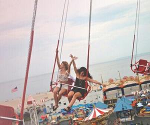 carousel, fun, and girls image