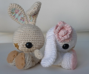 bunny and amigurumi image