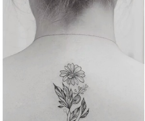 daisy, flower, and tattoo image