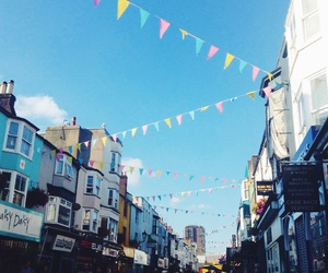 brighton, bunting, and The Lanes image