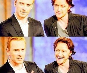 mcavoy, fassbender, and love image