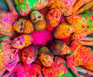child, colors, and india image
