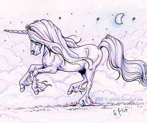 art, unicorn, and lena furberg image