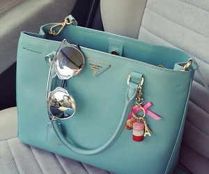 bag, Prada, and blue image