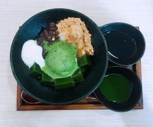 green tea, ice cream, and mattya image