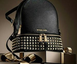 bag, black, and gold image