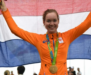 cycling, olympics, and anna van der bregge image