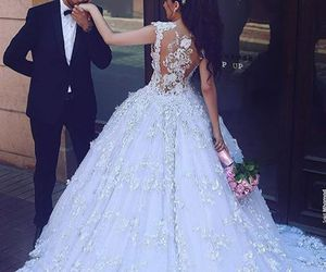 couple, bride, and wedding image