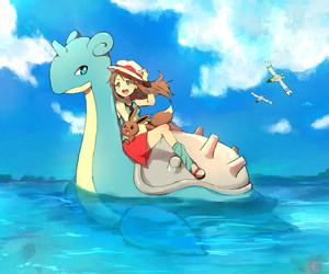 pokemon, leaf, and lapras image
