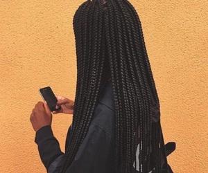 slay, box braids, and hairstyle image