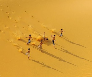 yellow, sand, and aesthetic image