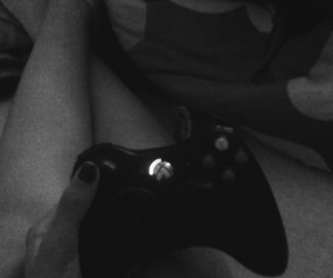 black and white, game, and girl image