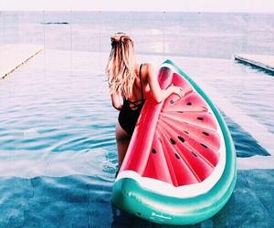 bikini, swimming, and vacation image