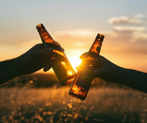 beer and sun image
