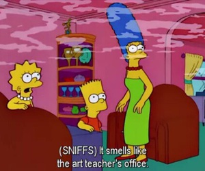 simpsons, art, and weed image