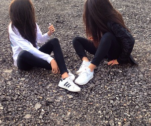 adidas, friends, and friendship image