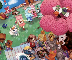 animal crossing, fan art, and summer image