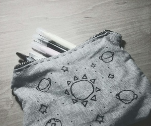 pencil case and planet image