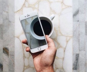 coffe, iphone, and photo image