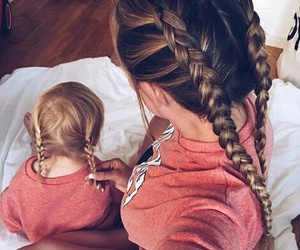 hair, baby, and family image