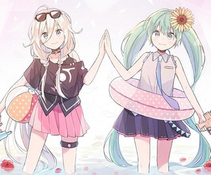 vocaloid, hatsune miku, and summer image