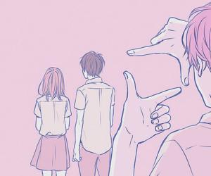 anime, orange, and art image