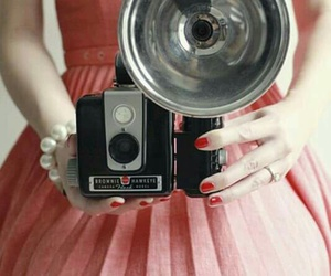 vintage, camera, and dress image