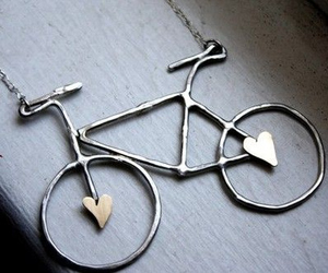 cute, bike, and heart image