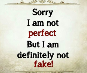 perfect, fake, and quote image
