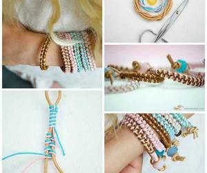 bracelet, diy, and tutorial image
