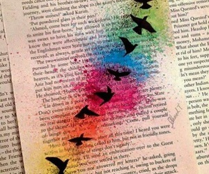 birds, colors, and drawing image