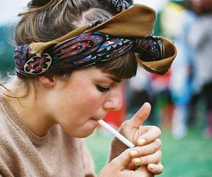 girl, cigarette, and indie image