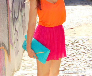 fashion, pink, and orange image