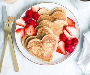 food, heart, and pancake image